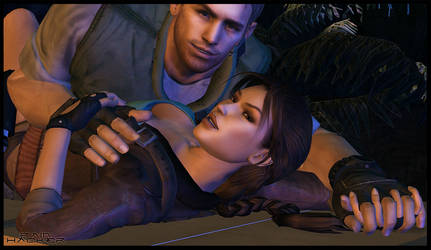 Lara Croft and Chris Redfield - Mine by PainHacker