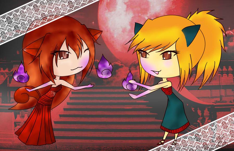 PsoTA Ruri and Cynthia by blossomsakuraXx
