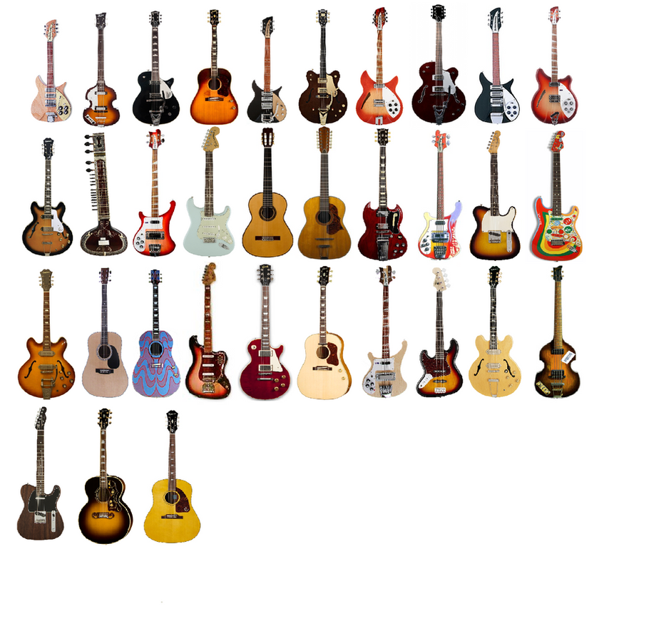the beatles guitars from rock band by titan994 on deviantart. Black Bedroom Furniture Sets. Home Design Ideas