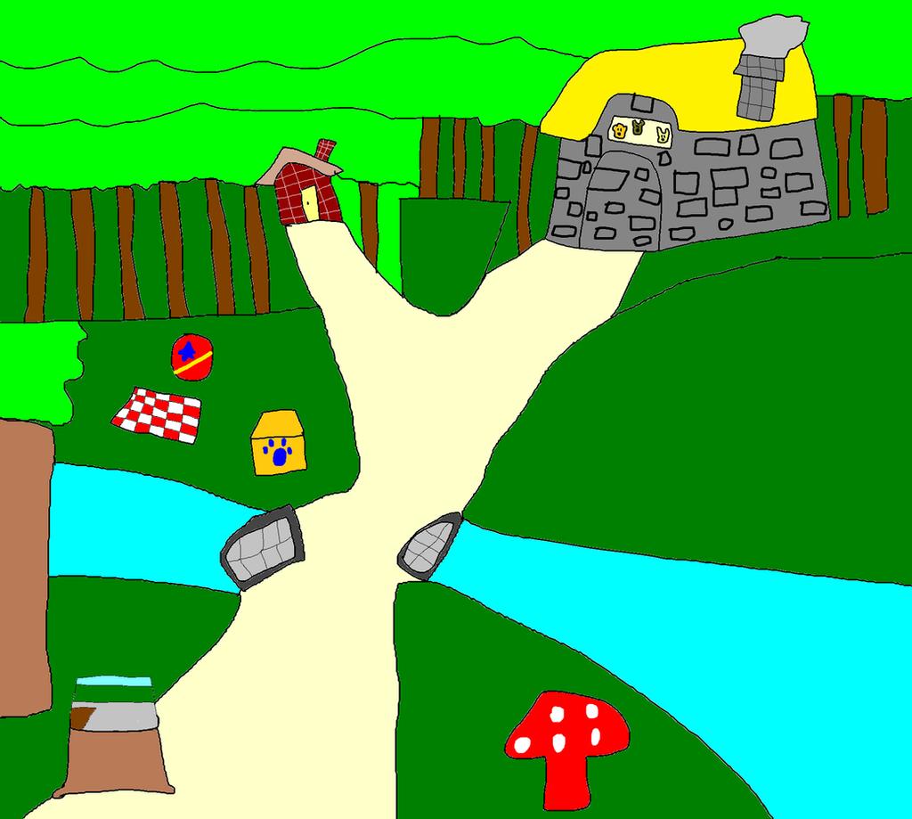 blue u0027s clues inside story book forest by titan994 on deviantart