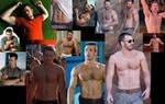 Chris Evans SHIRTLESS collage 2