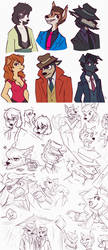 lupin iii characters but as sherlock hound dogs by aki-ta