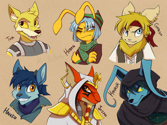 Some Neopets Boys by aki-ta