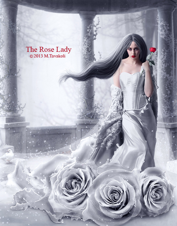 The Rose Lady by MasoumehTavakoli-Art