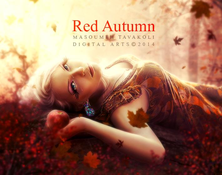 Red Autumn by MasoumehTavakoli-Art
