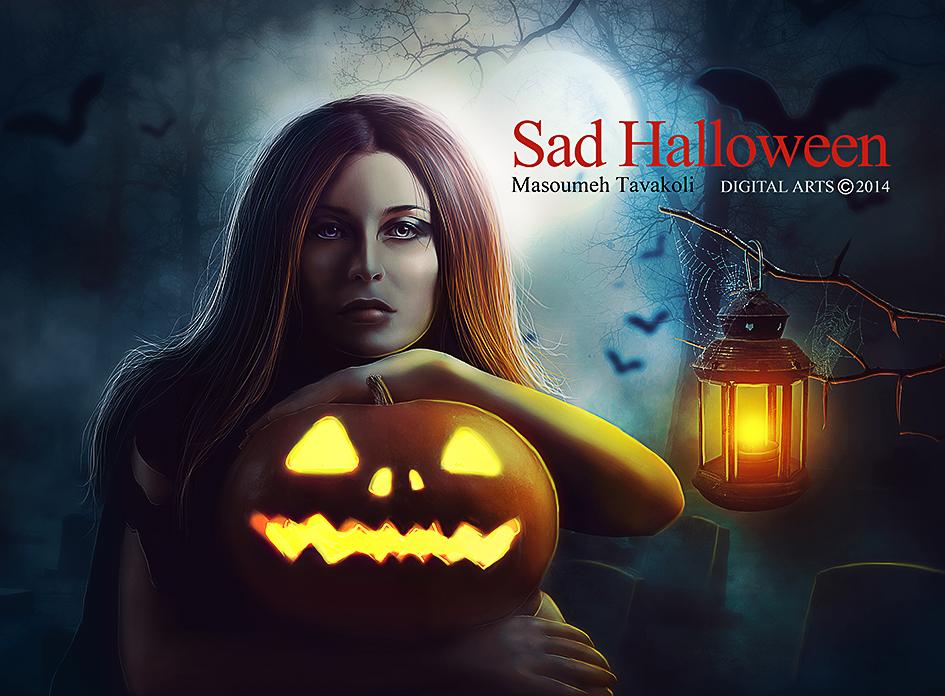 Sad Halloween by MasoumehTavakoli-Art