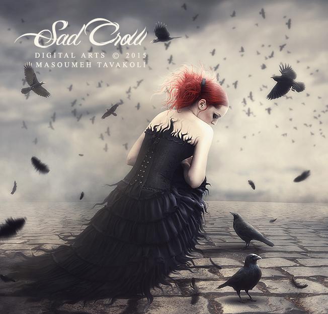 Sad Crow by DigitalDreams-Art