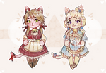Cat Adoptables 3EURO EACH open by cha-khiao