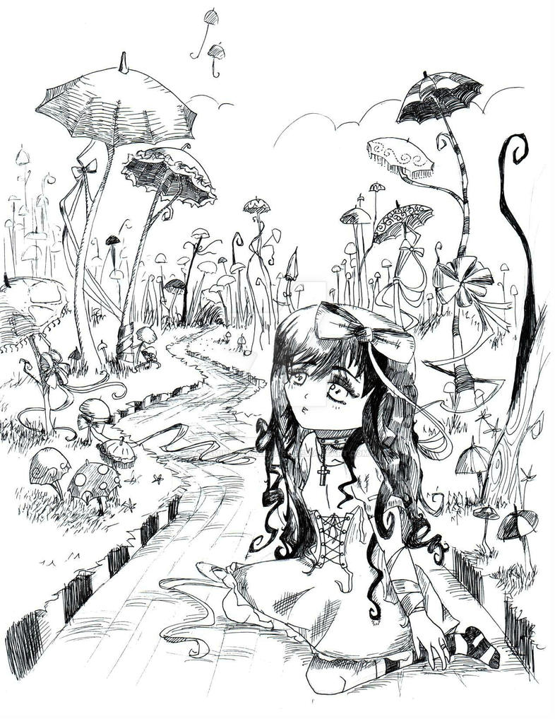 Umbrella Road by aramintaXkazemaru