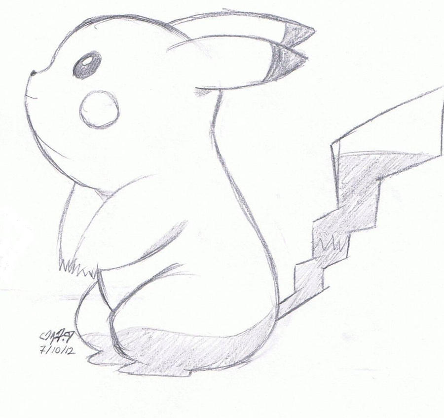 Pikachu sketch 4 by aramintaXkazemaru on DeviantArt