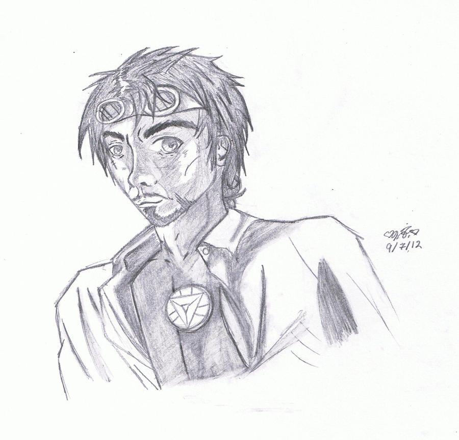 Steampunk Tony Stark by aramintaXkazemaru