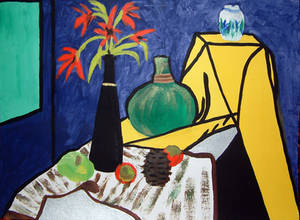 Still life with yellow