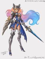 KnightCat Original Character by orangedk
