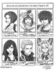 Six fan arts Challenge