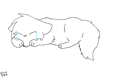 *~Crying~* Lineart (FREE) by DragonBreathForever