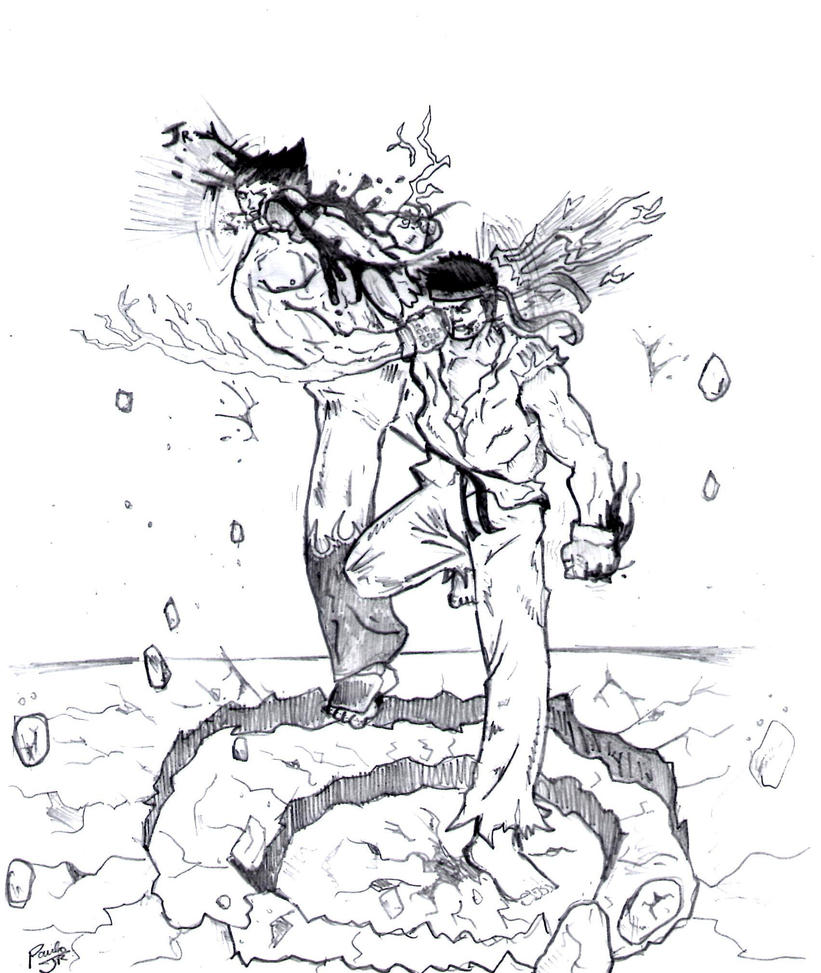 Ryu vs kazuya by paulojr10 on deviantart for Ryu coloring pages