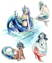 Mermaids by Capilair