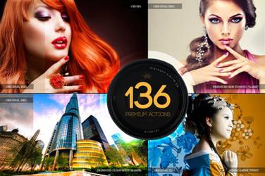 136 Premium Photoshop Actions by C3CreativeSpace