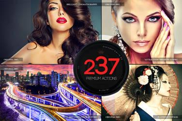 237 Premium Photoshop Actions by C3CreativeSpace