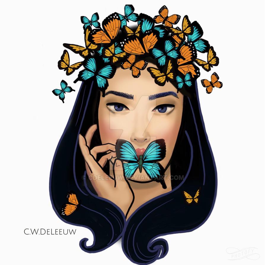 Butterfly Girl by CDeLeeuw