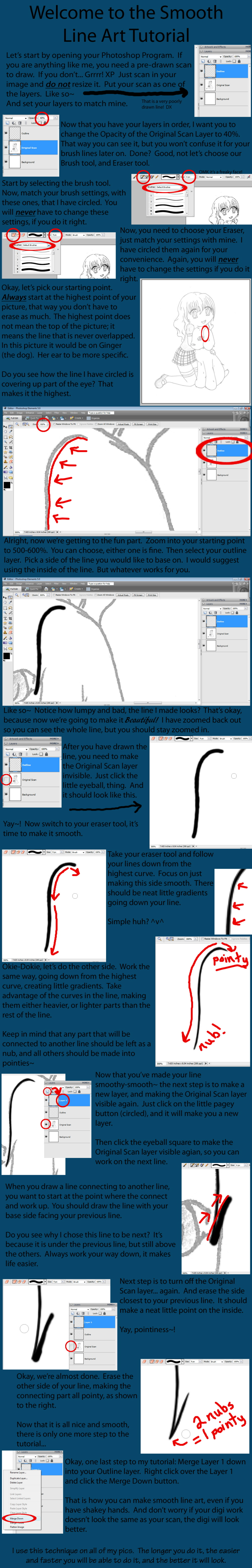 Digital Drawing Smooth Lines : Smooth line art tutorial by s r n y on deviantart