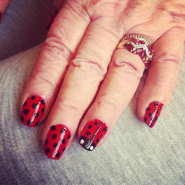 Ladybird Nails By Miss Reptilian On Deviantart