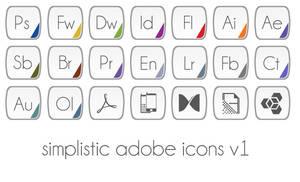 Simplistic Adobe Icons by SukhvirSingh