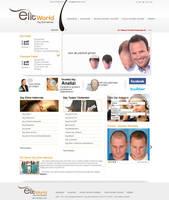 elit world hair trans web design by MesutASLAN