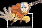 Aang  Airbender Stamp by MistressOfDeceit