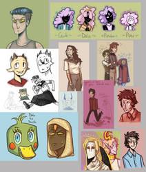 Doodle dump #6 but oh boi we get colourful