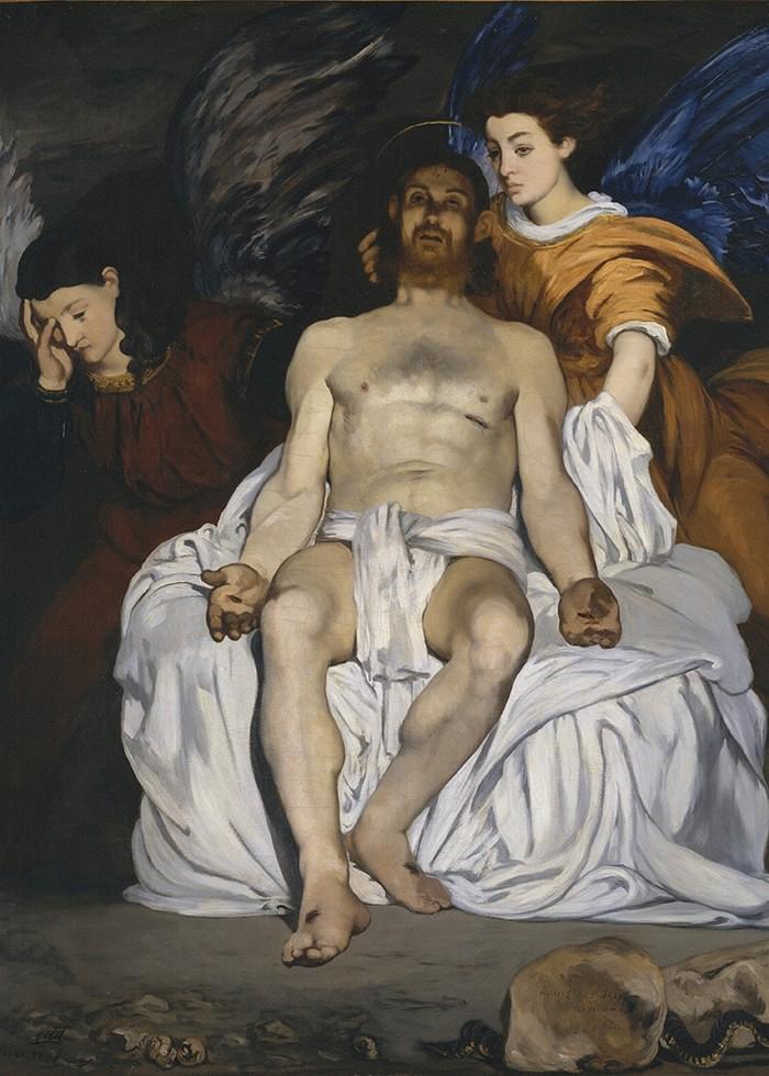 تابلو نقاشی، عیسی مسیح و فرشتگان