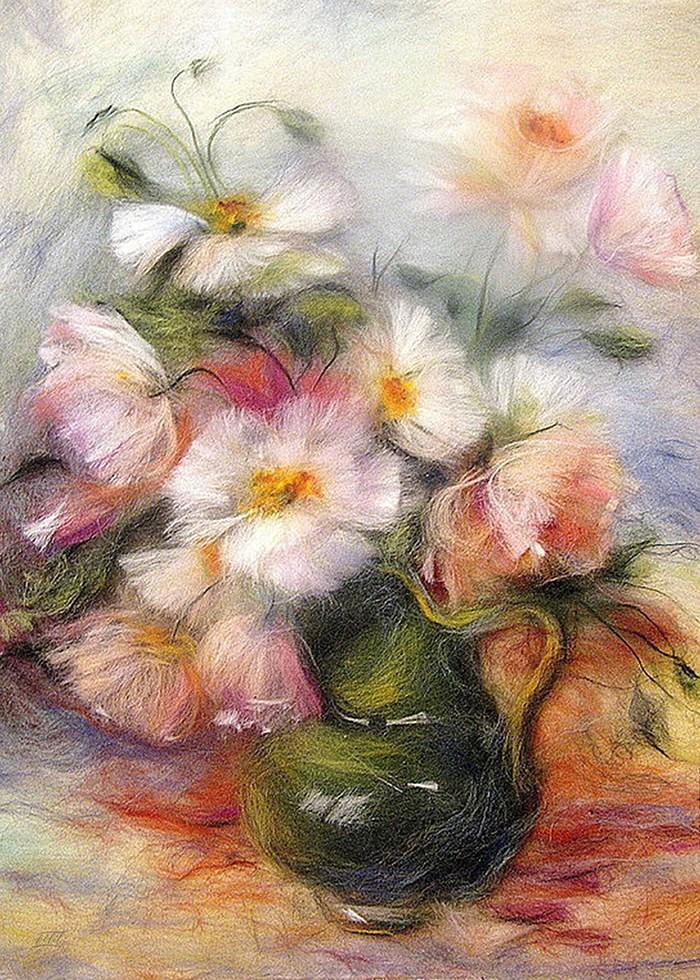 تابلو نقاشی، دسته گل 7
