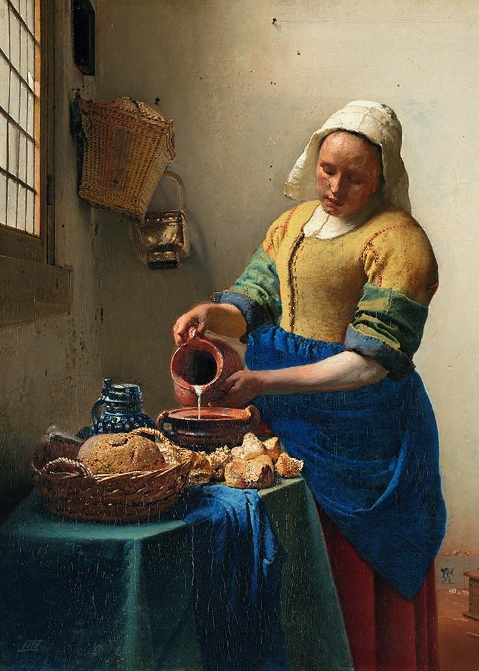 تابلو نقاشی، دختر شیردوش