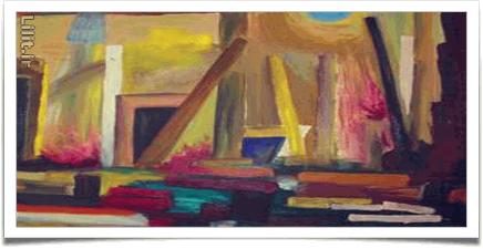 شیوه تخت در نقاشی رنگ روغن