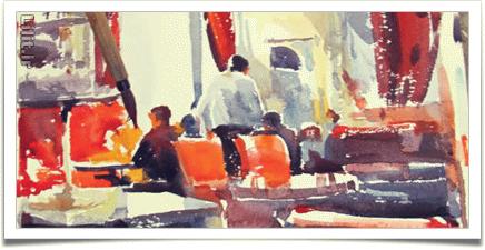 10 مرحله ساده برای خلق نقاشی امپرسیونیسم با آبرنگ