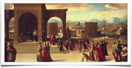 معماری در نقاشیهای رنسانس رم ایتالیا