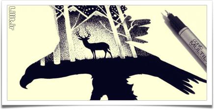 سبک دابل اکسپوژر – خلق نقاشی با هزاران نقطه