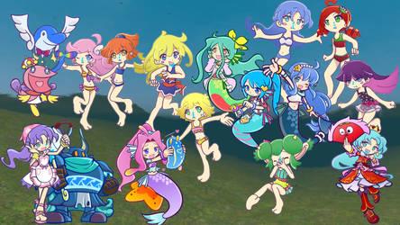 PPQ: Summer Swim with Puyo Girls by Raffine52