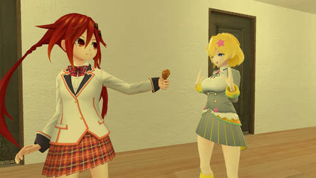 Uzume: 'Have a food for you, Licht!'