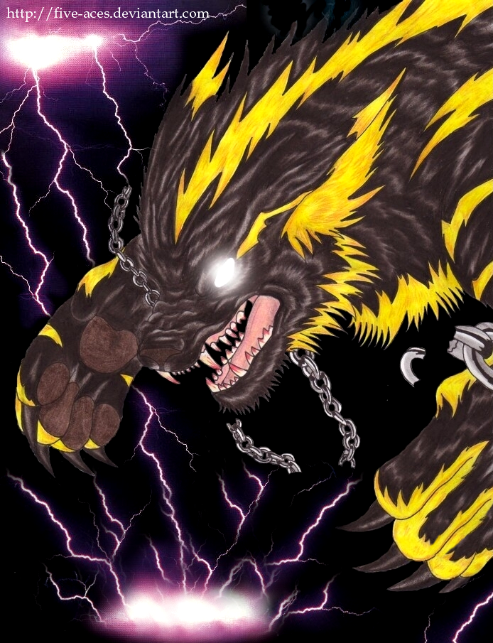Element Lightning - Storm Wolf by Five-Aces on DeviantArt
