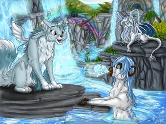 Fun in the Waterfalls by SweetLhuna