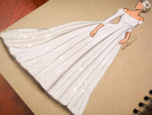 wedding dress - my drawing