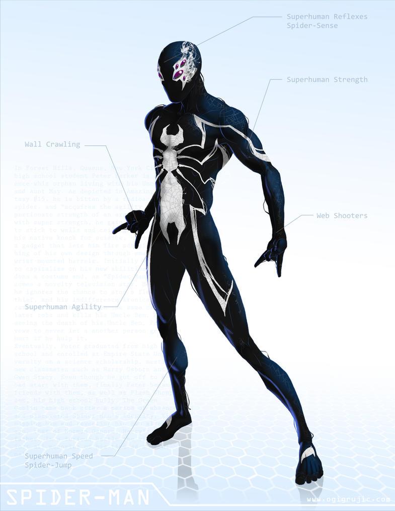 Black Spiderman Comic Spider-Man Black - OG Marvel