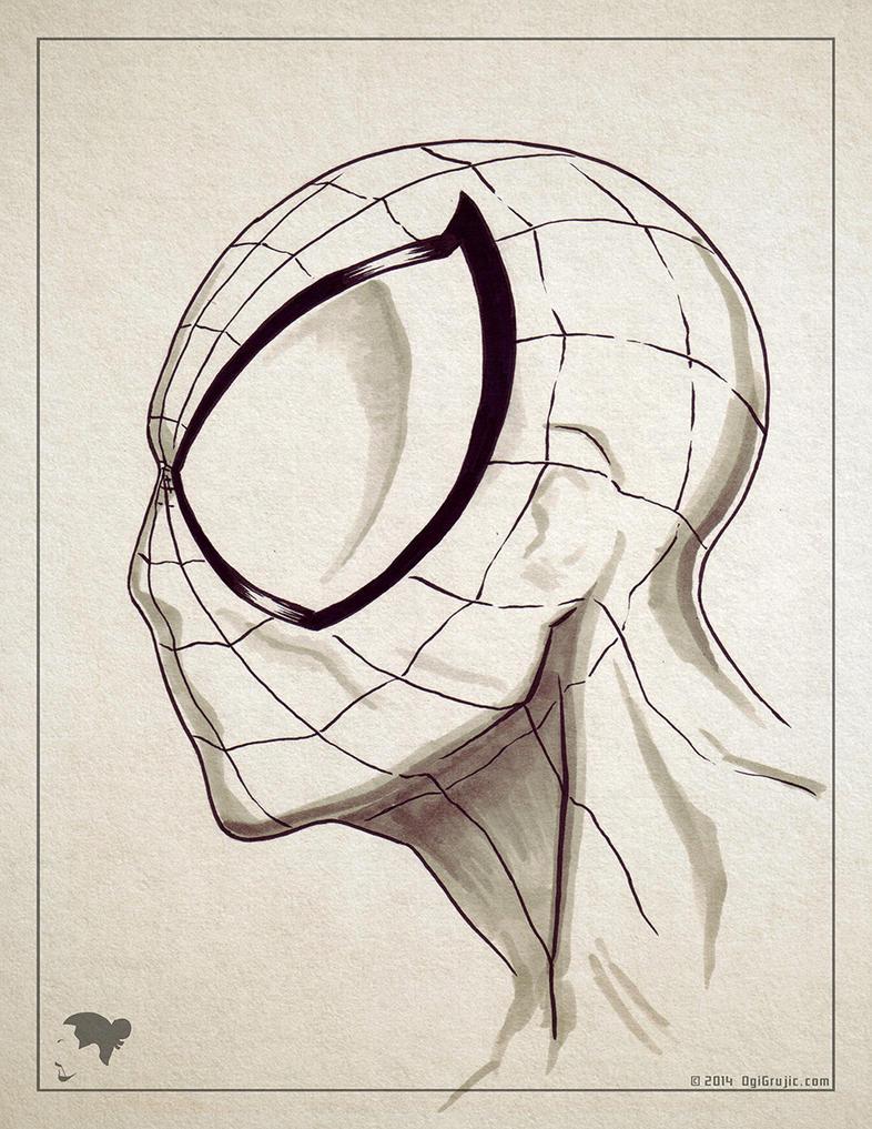 2014 07   Spider-Man marker sketch by ogi-g