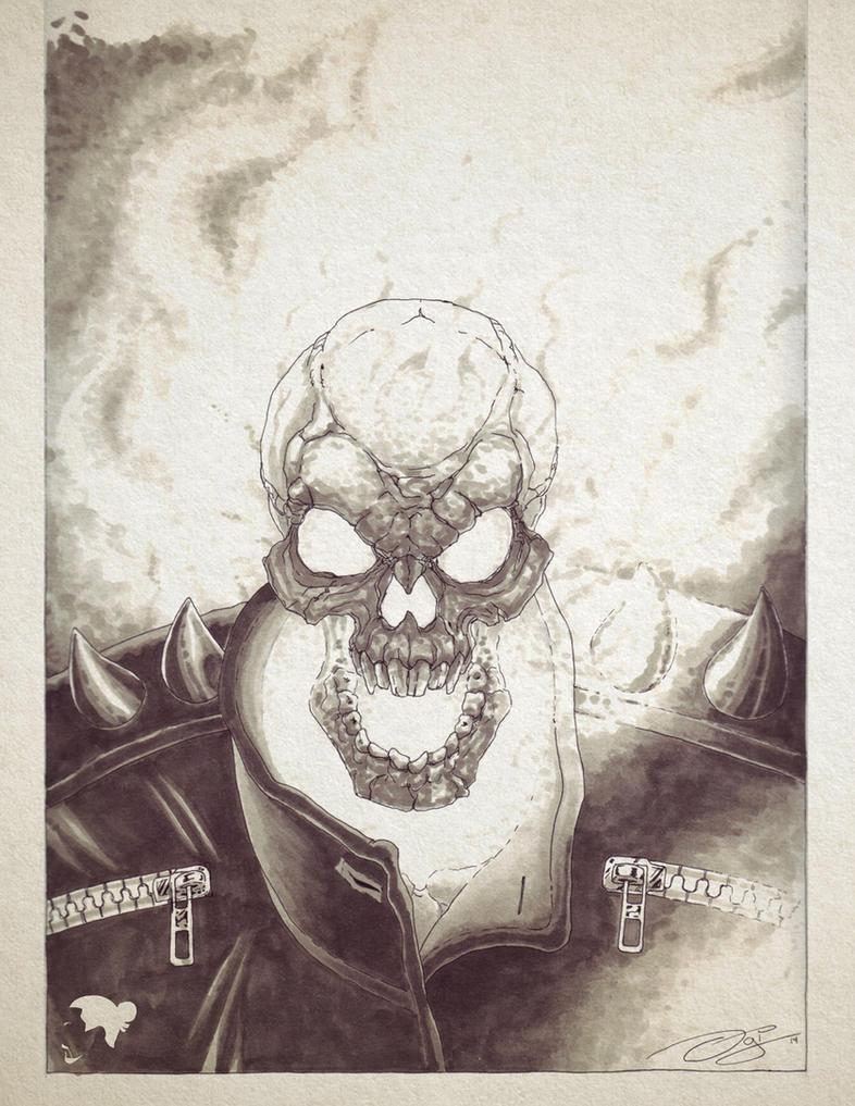 Ghost Rider marker sketch by ogi-g