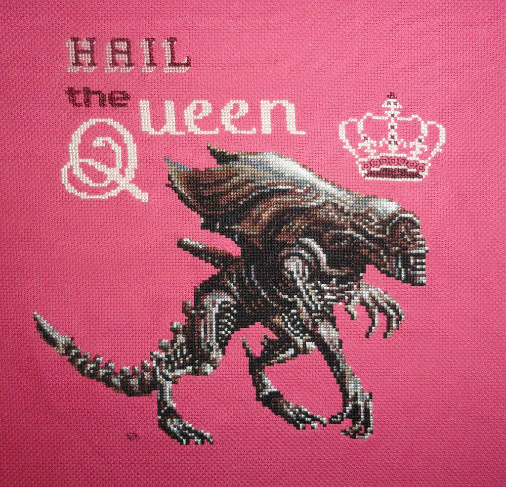 Alien Queen_Xstitch