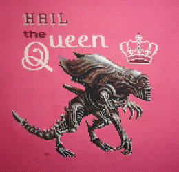 Alien Queen_Xstitch by Zeephra