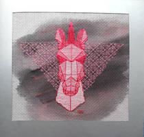 Geometic unicorn_xstitch