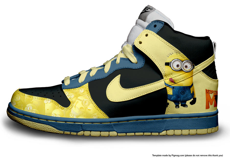 dispicable me - minions - nike by l3ouncinGx