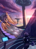 Sci-fi city ~ finish version by DyanerisArt